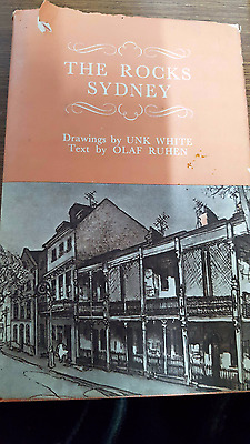 The Rocks Sydney Reprint 1972 Drawings By Unk White And Olaf Ruhen Rare Book