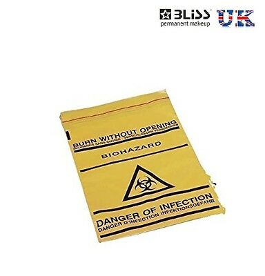 Biohazard Clinical Waste Bags Disposal Danger - Self Seal Thick Yellow Safe