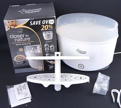 Tommee Tippee Electric Steriliser, Dispensers Closer to Nature, Boxed, Free P&P!