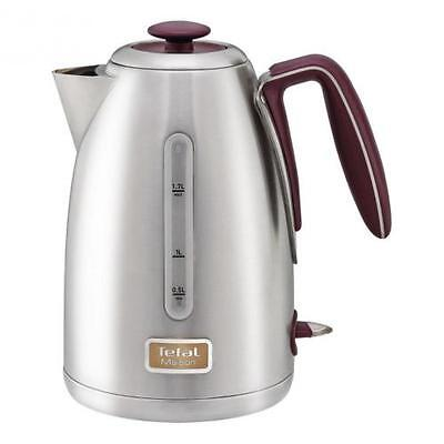New Tefal Maison KI2605 Red And Brushed Stainless Steel 1.7L Kettle SALE