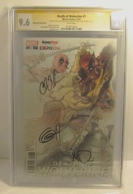 Death of Wolverine #1 Signed by Mcniven, Soule and Horn