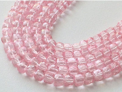 """8"""" Strand Crystal Quartz, Coated Crystal Bead, Micro Faceted Crystal Box Cube"""
