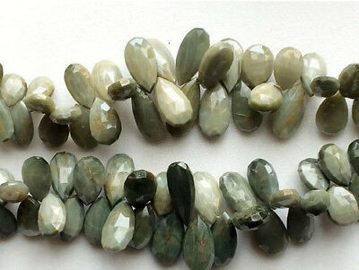 """4"""" Strand Cats Eye Stone, Faceted Cats Eye, Cats Eye Pear Briolettes Beads"""