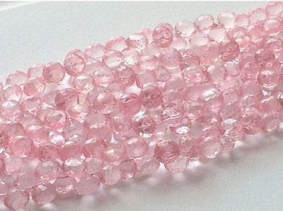 """8"""" Strand Crystal Quartz, Coated Crystal, Micro Faceted Crystal Onion Briolette"""