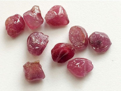 5 Pcs Rough Ruby Gems, Rough Ruby Gemstones, AAA Ruby Gems, Loose Ruby Beads