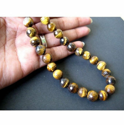 """14"""" Strand Tigers Eye Rondelles, Faceted Tigers Eye Rondelles, AAA  Tigers Eye"""
