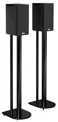 """36"""" Universal Home Theatre Speaker Stands with High Gloss Black Finish"""