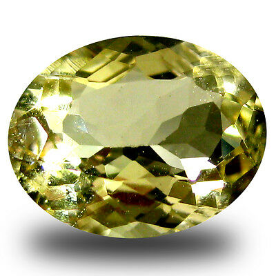 1.51 ct AAA Extraordinary Oval Shape (9 x 7 mm) Yellow Heliodor Beryl Gemstone