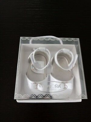 Mayoral Newborn Baby girl white shoes size 15 NEW