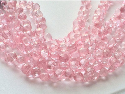 """4"""" Strand Crystal Quartz, Coated Crystal Beads, Faceted Crystal Onion Briolette"""