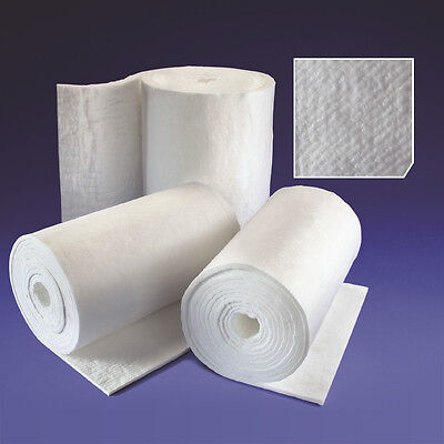 25mm Ceramic Fibre Blanket for Kiln Insulation Raku Furnace Gas Forge Pizza Oven