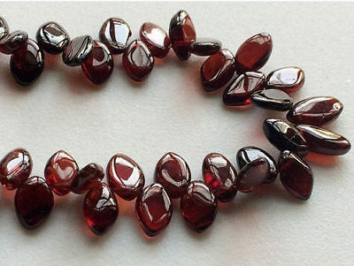 "4"" Strand Garnet Plain Marquise Beads Lot, Faceted Garnet Beads, Red Garnet Bead"