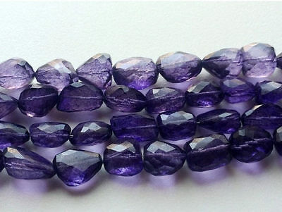 """4"""" Strand Crystal Quartz, Coated Crystal Tumbles Beads, Faceted Crystal Quartz"""