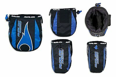 New Avalon Archery Release Aid Belt Pouch Draw String Rip-Stop Nylon Blue Red