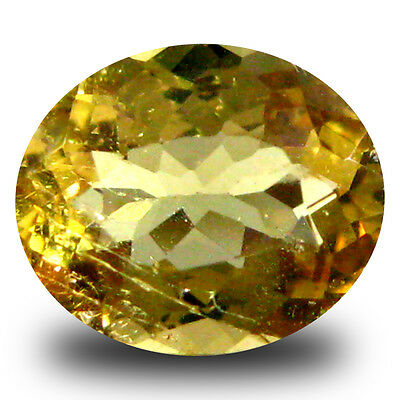 0.92 ct AAA Incredible Oval Shape (7 x 6 mm) Yellow Heliodor Beryl Gemstone