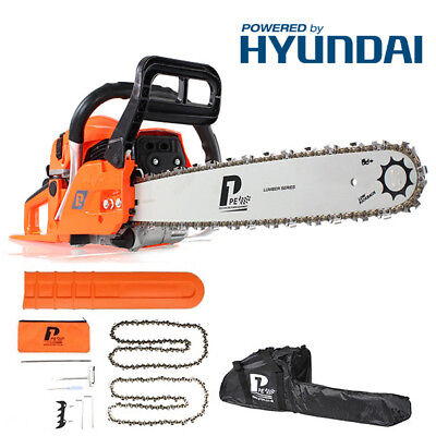"""New Heavy Duty  P1PE Petrol 20"""" 62cc Powerful Chainsaw with Carry Bag"""