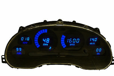 1994-2004 Ford Mustang Digital Dash Panel Gauges by Intellitronix Blue LEDs