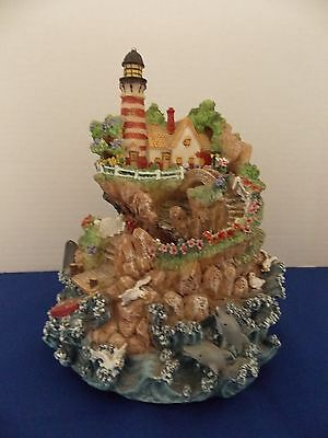 """Musical Light house music  plays """"by the sea"""" 7 1/2"""" x 6 1/2"""""""