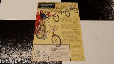 Sears Gremlin Spyder Muscle Bike Bicycle Ad Advertisement
