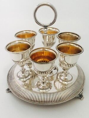 Victorian Set of Silver P  Goblets/eggcups by Martin Hall 1860 Free Post