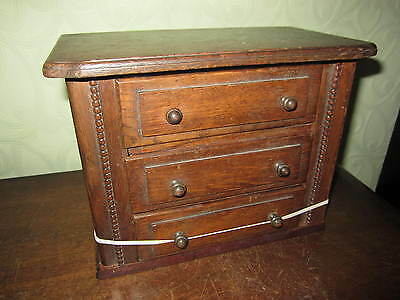 An old oak desktop chest of drawers - collectors cabinet