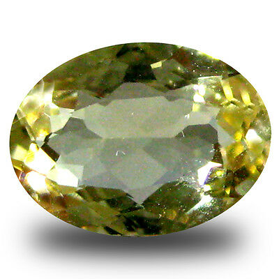 0.86 ct AAA Marvelous Oval Shape (8 x 6 mm) Yellow Heliodor Beryl Gemstone