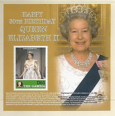 Gambia 2006 QEII 80th Birthday MS unmounted mint