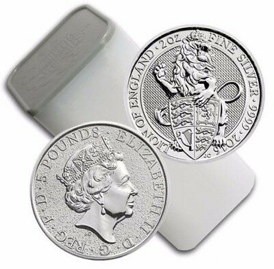 2016 Silver Great Britain Queen's Beasts (The Lion) .9999 - 2 oz (10 Coin Tube)