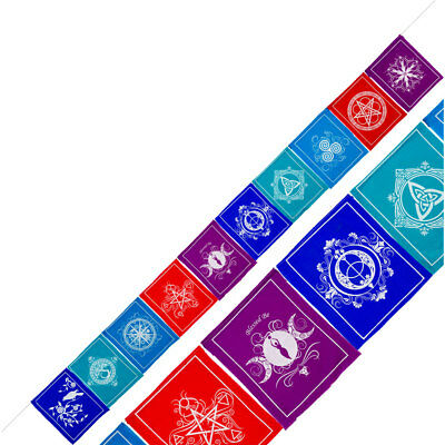 Pagan Symbol Tibetan Prayer Pace (Peace) Flags or Banner!