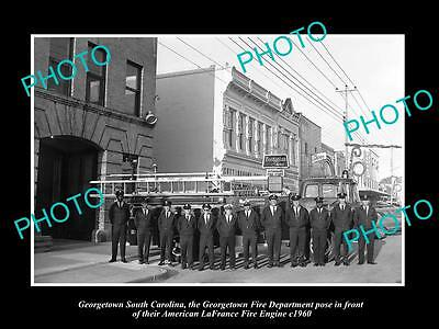 Old Large Historic Photo Of Georgetown South Carolina The Fire Department 1960 2