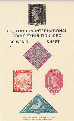 The London International Stamp Exhibition 1950 Souvenir Sheet Unminted mint.