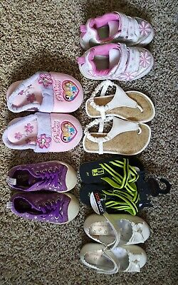 girls size 6-8 shoes lot