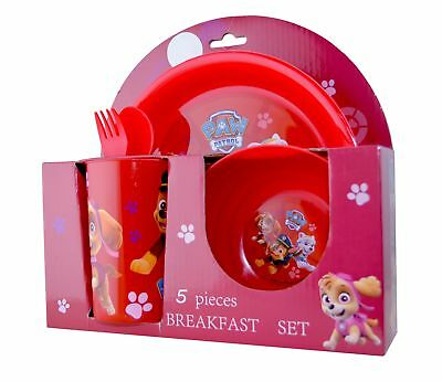Paw Patrol 'Pawsome' 5 Piece Breakfast Dinner Set Brand New Gift
