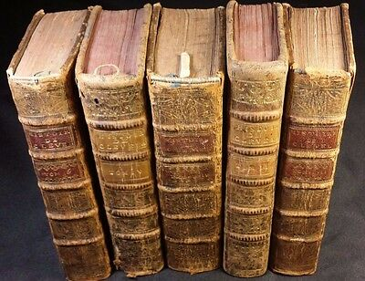 Lot of 5 Old Books - The English philosopher or History of Mr. Cleveland - 1700s