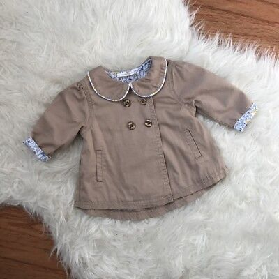 Next Baby Girl Trench Coat Jacket Mac Size 0-3 Months new Without Tags