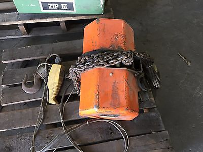 Jet Electric Chain Hoist made by Hitachi model 1 ton 1RS-3-10