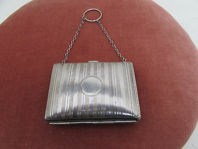 Ladies Antique Silver Plated Finger Purse
