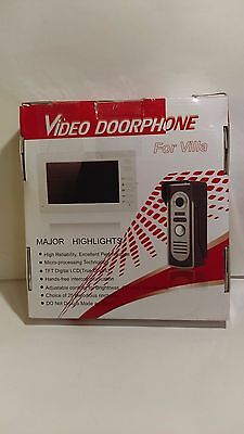 """Video Doorbell Phone, 7"""" Video Intercom Door phone System Wired FOR PARTS ONLY"""