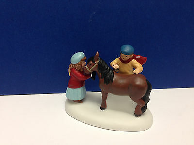 Dept 56 New England Village A CHRISTMAS PONY w/ box NEW! Combine Shipping!