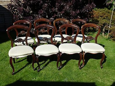 Set of 8 Victorian style reproduction dining chairs