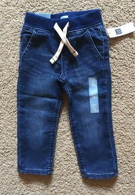 Toddler Boy Size 2 2T Baby Gap Pull On Banded Denim Jogger Jeans