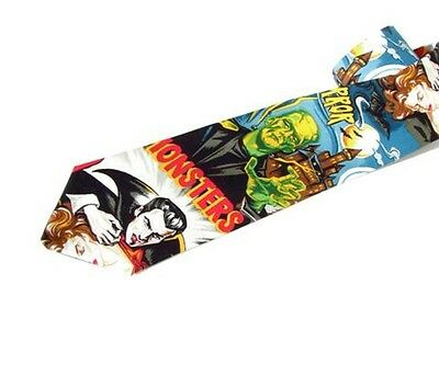 Frankenstein Mummy Monster Men's Tied Neck-tie's Tie werewolf Dracula Hollywood