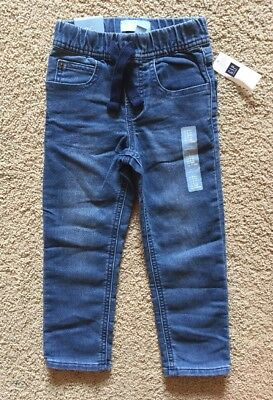 Toddler Boy Size 4 4T Baby Gap Pull On Banded Denim Jogger Jeans
