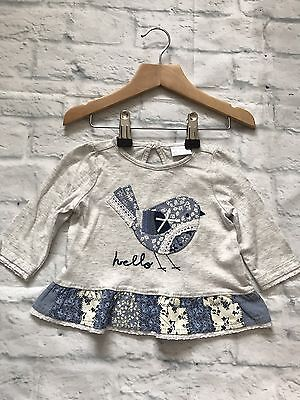 Baby Girls Clothes 0-3 Months - Pretty Tunic T Shirt Top  -New -