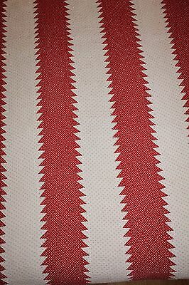 PA Mennonite: Vintage Red & White Tree Everlasting Quilt, Beautifully Quilted