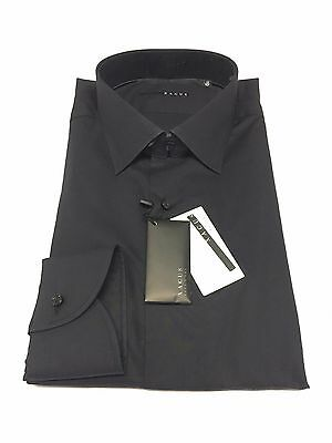 XACUS men's shirts black 100% cotton