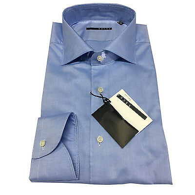 XACUS men's shirts baby blue 100 100% cotton