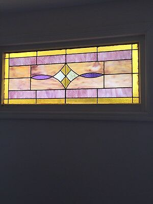 Stained Glass Leaded Window For Sale. Antique. Approx size: 2' x 4'. Beautiful.