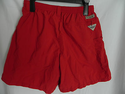 Mens Columbia Swimming Trunks Board Shorts Size Small Red PFG Omni shade