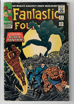 FANTASTIC FOUR #52 - Grade 4.0 - First appearance of the BLACK PANTHER!